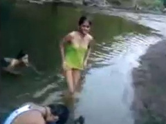 Indian Girls On River