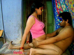 Indian Bhabhi Savwith Big Tits Rides Cock In The Mask