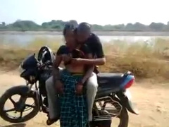 Desi Bhabhi Giving Blowjob & Fucked Doggy On Bike Outdoor