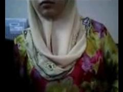 Malay- Awek Tudung Depan Cam