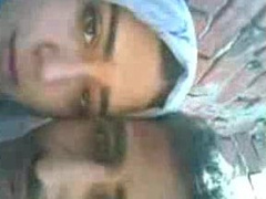 Arab Girl Kissing Boyfriend