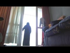 On My Balcony In Niqab